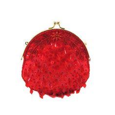 Ruby Red Round Teardrop Sequin Clutch  - $17