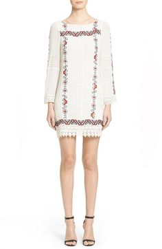 Alice + Olivia 'Riska' Embroidered Cotton Dress available at #Nordstrom