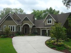 Image detail for -Traditional transitional Tudor home exterior, neutral colors, arched . Stone Exterior Houses, Stone Houses, House Exteriors, Tudor House, Paint Colors For Home, Exterior Paint Colors, Exterior Design, Exterior House Colors Combinations, Transitional Home Decor