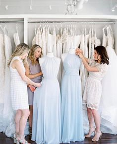 We're here to help make the process of dressing your bridesmaids easy and fun! Simply set up an appointment to view our selection of dresses and connect us with your wedding party- We can take it from there! We'll help with measuring and selecting styles. As the bride, you've got a lot on your list to coordinate and plan, we'd love to take this off your plate! Click the link in our bio or give us a call to learn more and set up an appointment. Bridesmaid Dresses, Wedding Dresses, Bridesmaids, Set Up An Appointment, Chic Wedding, Dressing, Bridal, Stylish, Connect