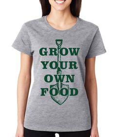 Grey Grow Your Own Food Crewneck Tee
