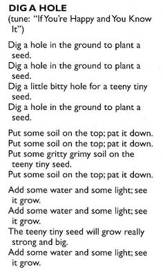 Planting seeds song