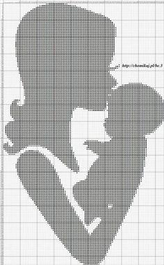 ru & Photo # 49 - Mother and Child - Olgakam Baby Cross Stitch Patterns, Cross Stitch Baby, Cross Stitch Kits, Cross Stitch Charts, Cross Stitch Designs, Cross Stitching, Cross Stitch Embroidery, Embroidery Patterns, Crochet Chart