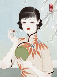 art for art's sake — by 末春 Geisha Kunst, Geisha Art, Hong Kong Art, Beautiful Fantasy Art, China Art, Traditional Paintings, Art Graphique, Art For Art Sake, Portraits