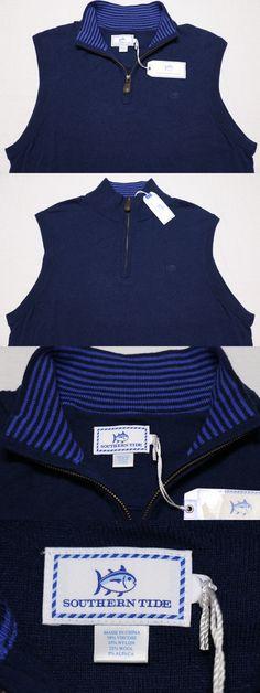 Sweaters 11484: Southern Tide Men S Zip Sweater Vest Wool Alpaca Blue Large L ~ New -> BUY IT NOW ONLY: $79.99 on eBay!