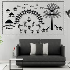 66 new Ideas kitchen wall art painting canvases Kids Canvas, Art Wall, Worli Painting, Paint Colors, Wall Art Painting, Paint Designs, Painting, Art, Wall Painting