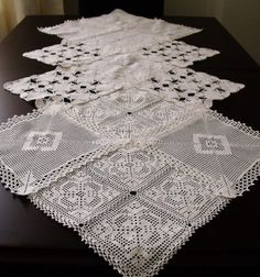 Vintage Doily Runner Wedding Table by AccessoriesInLove on Etsy