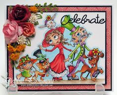 Debbie P's Place: Bloobel Stamps Progressive Challenge - March