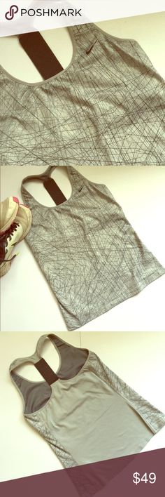 cd78ee9f605 🌾☀️NIKE DRI-FIT ABSTRACT PRINT ATHLETIC TOP NIKE Dri-Fit Athletic Top  features Built-in Bra Support and an Elastic T-Back for Style and Comfort.