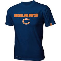 Get this Chicago Bears Youth Team Standard Dri-Tek T-Shirt at ChicagoTeamStore.com