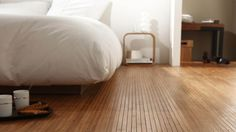 Bamboo Floor Flexible and original alternative to floor covering Available on roll and tiles Durable and finely priced Inspiration BVO Flooring Bamboo Wood Flooring, Cork Flooring, Parquet Texture, Bamboo Architecture, Farmhouse Renovation, Dream House Interior, Bedroom Flooring, Home And Deco, Cozy House
