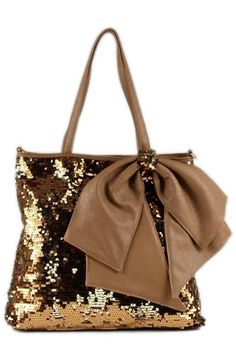 Sequin Handbag with Bow - Color Options