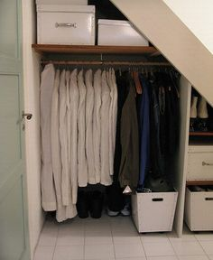 Maximizing The Use Of Under Stairs Storage, under stair storage solutions, under stairs storage ideas ~ Home Design Closet Under Stairs, Under Stairs Cupboard, Basement Stairs, Deck Stairs, Hall Closet, Hidden Storage, Closet Storage, Storage Shelves, Storage Spaces
