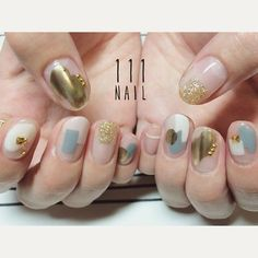 アート・ニュアンス Minimalist Nails, Japan Nail Art, Beauty Nails, Spring Nails, Diy Opal Nails, Gel Nails, Hair And Nails, Bridal Nails, Wedding Nails