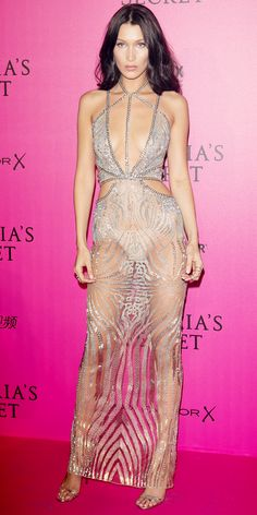 15 Jaw-Dropping Looks from the Victoria's Secret Fashion Show After-Party - Bella Hadid from InStyle.com