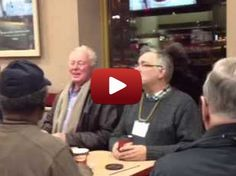 Choir of old men break out in song while hanging out at Tim Hortons