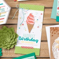 Stampin' Up! Cool Treats Birthday Card   Stampin' Pretty