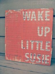 DIY - Wall art. Paint and stencil over newspaper or music sheets