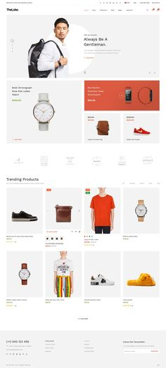 TheLoke - Clean & Modern Multi-Purpose eCommerce PSD Website Template - 76 PSD Files You are in the right place about responsive Web Design Here we offer you the most beautiful pictures about the Web Website Design Inspiration, Best Website Design, Site Web Design, Online Web Design, Page Design, Grid Web Design, Fashion Website Design, Store Design, Web Design Trends