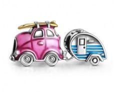 Travel Car and Trailer Charm Set