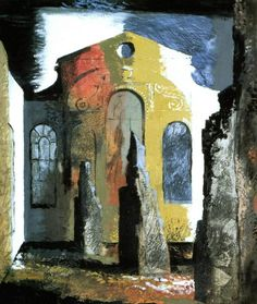 John Piper. Christ Church, Newgate St, London