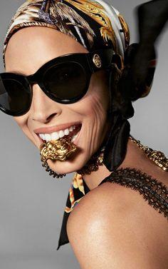 be0462bbab Christy Turlington for Versace spring-summer 2018 Eyewear campaign Versace  Eyewear