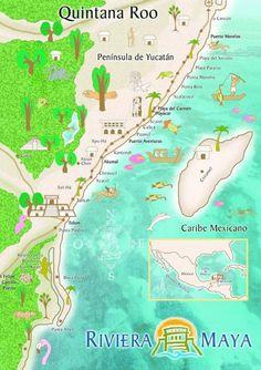 map mappa Riviera Maya Quintana Roo