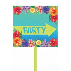 Help guests find your #Luau #party with this sign! #partyideas #summer