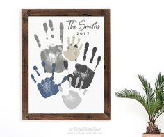 Handprint Art Discover Personalized Family Portrait 5 Handprint Art Gift for Dad Mom Mothers Fathers Day Your Actual Hand Prints inches UNFRAMED Mothers Day Crafts For Kids, Fathers Day Crafts, Family Hand Prints, Personalized Gifts For Dad, Personalized Products, Portrait Wall, Handprint Art, Family Crafts, Family Art Projects