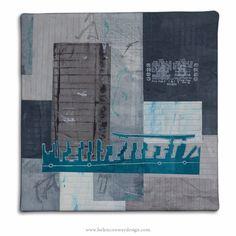 Canada Dock by Helen Conway - Liverpool Overhead Railway Series - Mixed media 30 cm x 30 cm