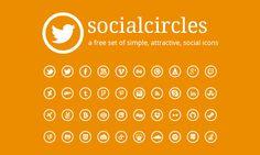 Socialcircles - Free social icons (circular). by robby-designs.deviantart.com on @DeviantArt