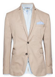 H.E.BY MANGO - CLOTHING - Jackets - Unstructured cotton blazer