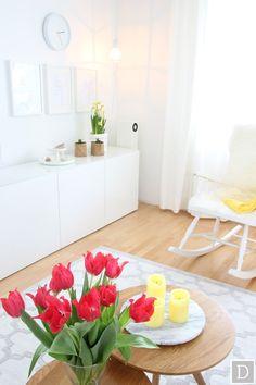 Dekottaa, olohuoneen keväinen sisustus