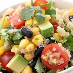 Want to turn quinoa from a boring seed into a mouth-watering super food for your family? I've got some quinoa recipes to show you how! Mexican Quinoa Salad, Quinoa Salad Recipes, Vegetarian Recipes, Healthy Recipes, Avocado Quinoa, Quinoa Bowl, Vegetarian Options, Avocado Recipes, Delicious Recipes