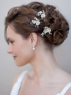 Romantic Fabric Flower Hairpin: Hair Comes the Bride.