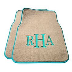 Personalized Car Mats- July 2013 O list