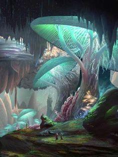 Super Ideas For Anime Art Fantasy Landscape Fantasy Art Landscapes, Fantasy Landscape, Fantasy Artwork, Landscape Paintings, Landscape Concept, City Landscape, Art Visionnaire, Fantasy Kunst, Fantasy Places