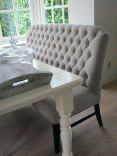 Great bench and a nice change from regular dining chairs http://findanswerhere.com/homedecor