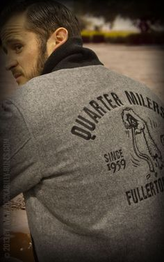 Rumble59 - Clicker Jacket - grau - Quarter Milers  - Coole Car Club Jacket für jeden Hotrod-Fan! - Rockabilly-Rules.com