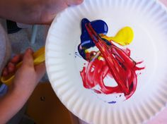 magnet painting.  How fun!
