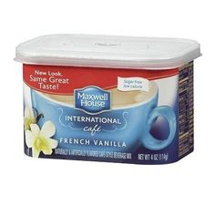 Maxwell House International Cafe Style Beverage Mix Sugar Free French Vanilla oz -- Read more at the image link. (This is an affiliate link and I receive a commission for the sales) Coffee Pack, Coffee Mug Sets, Mugs Set, Vanilla Sugar, French Vanilla, Maxwell House Coffee, International Coffee, Free In French, Coffee Cream