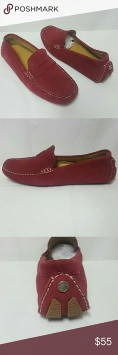 Cole Haan Red Suede loafer driving shoes Size 8.5 Cole Haan shoes in mint condition. Size 8.5 medium. Thank you Cole Haan Shoes Flats & Loafers
