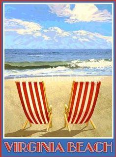 "Virginia Beach  Posters measure 18""x24""  Framed $135.00 Unframed $34.95"