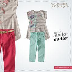 A modelagem mullet combinado com cores da primavera :)