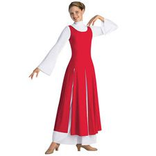 Paneled Worship Tunic; Spiritual Expressions. Red is nice for Xmas