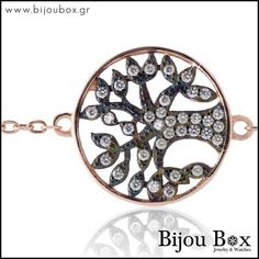 Silver bracelets with Life Tree from Bijou Box, Rose Trees, Silver Bracelets, Jewelry Watches, Rose Gold, Instagram Posts, Silver Cuff Bracelets, Pink Trees