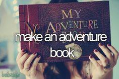 Before I die - make an adventure book