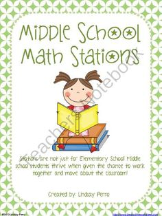 Middle School Math Stations from Beyond the Worksheet on TeachersNotebook.com (100 pages)  - Stations are not just for Elementary School! Middle school students thrive when given the chance to work together and move about the classroom!