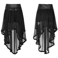 Punk Military style Knit Chiffon Culottes for Women Black Fashion Sexy Hollow Out Skirts Punk Outfits, Gothic Outfits, Fashion Outfits, Pretty Outfits, Cool Outfits, Steampunk Skirt, Military Fashion, Military Style, Culottes