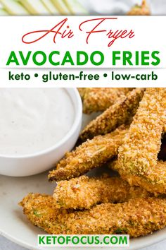 Snack Foods – The Keto Diet Recipe Cafe Avocado Fries, Keto Avocado, Avocado Recipes, Lunch Recipes, Keto Recipes, Dinner Recipes, Healthy Recipes, Avocado Cream, Burger Side Dishes